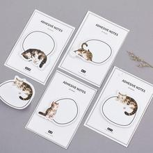 The Cat Sleep All The Time Memo Pad N Times Sticky Notes Escolar Papelaria School Supply Bookmark Post it Label(China)