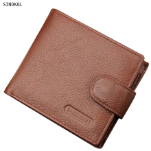Wallet Men's Purse Fashion Short Male Leather Money Billford Clutch Brand Design Coin Purse Gift Cow Leather Men Pocket Wallets