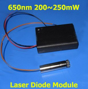 650nm red laser diode module, 200`250mW output power, easily light  match and cigarette<br><br>Aliexpress