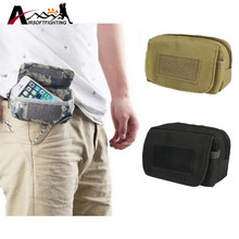 Tactical 600D Molle Cellphone Sundries Pouch Military Waist Fanny Pack Waist Bag Outdoor Sports Min Bag EDC Gear Accessory Pouch