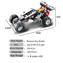 Decool Technic 3343 Building Blocks Transport Off-roader Car Racing Car Model Educational DIY Bricks Toys Compatible With lepin