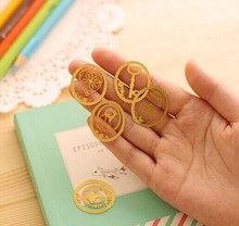 (1Pcs/Sell) Senior Gold Plated Christmas Gift Metal Bookmarks Delicate For Book Creative Item Kids Gift Korean Stationery New