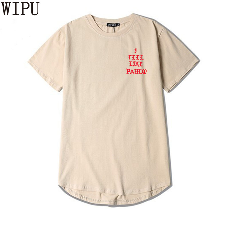 2017 Kanye West Life Pablo Kanye T shirt Men Summer Brand Clothing T-Shirt Feel like Paul Kanye Tee Shirt Homme