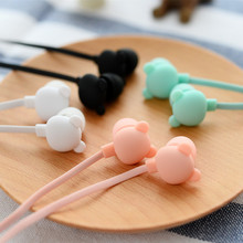 New Bear Cute Earphone in-ear Candy Color Girl Ear phones Earbuds Universal for iPhone Xiaomi Samsung Lenovo Nokia for Mp3 Gfit(China)
