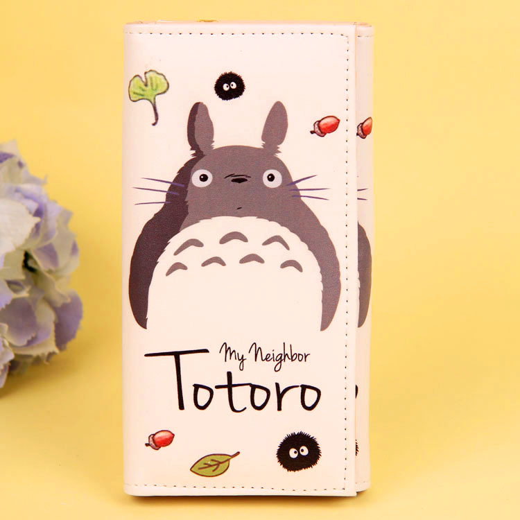Cartoon My Neighbor Totoro Women Wallets PU Leather Students Wallet Cards Holder Women's Clutch Hasp Coin Purse Money Bags 8