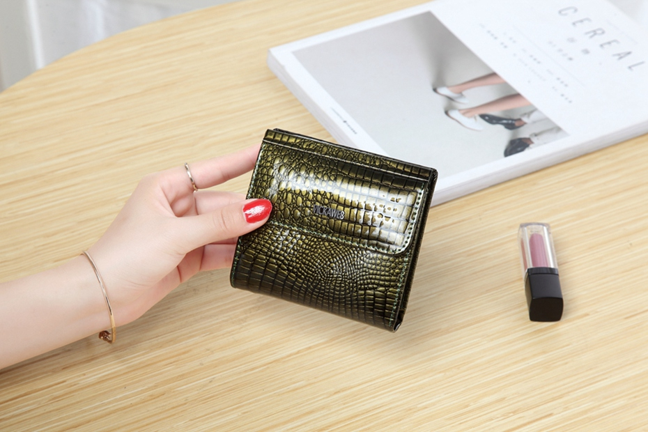 VICKAWEB Mini Wallet Women Genuine Leather Wallets Fashion Alligator Hasp Short Wallet Female Small Woman Wallets And Purses-IMG_6456