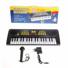 37 Keys Kid Chidren Piano Electronic Music Keyboard Electric Toy+Mic Adapter New