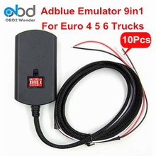 10 Pcs/Lot DHL Free Adblue Emulator 9 In 1 For Volvo For Scania For Man For DAF 9 Types Heavy Duty Trucks Adblue 9-in-1 A++ Chip