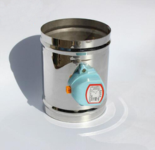 "100MM Stainless steel electric air valve valve, 220VAC Air damper air tight type, 4"" ventilation pipe valve"