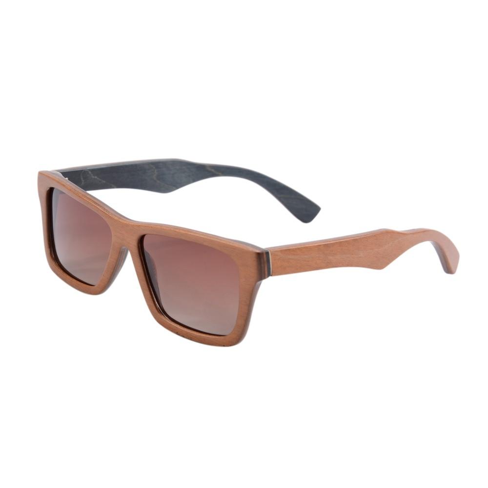 100% Handmade Wood Sunglasses Women Fashion Skateboard Wooden Glasses Vintage Big Square Polarized Gradient  Brown Goggle  68020<br><br>Aliexpress