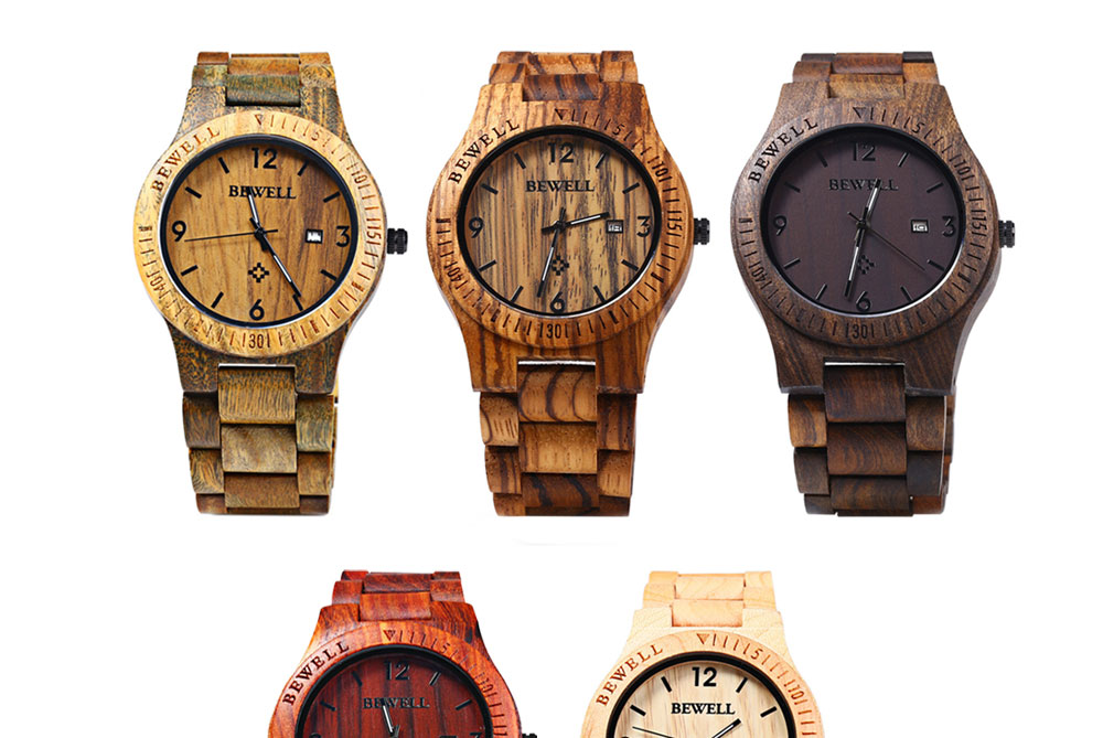 2017 BigBen Bewell Luxury Brand Wood Watch Men Analog Natural Quartz Movement Date Male Wristwatches Clock Relogio Masculino (13)
