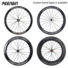 PEENGIN 700C 20/38/50/60/88mm carbon wheels taiwan tech tubular-clincher-tubeless road bike wheelset 23mm hot in American market(China)