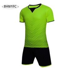 BHWYFC Sports Mens Survetement Football 2017 form Paintless Blank Soccer Jerseys Customized Full Set Suits Training Set