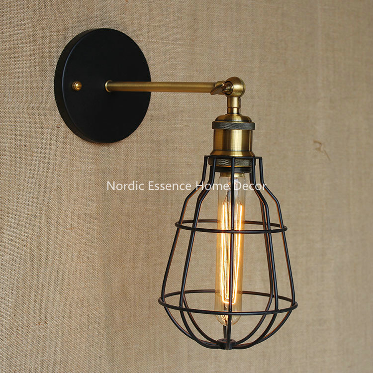 Industrial Warehouse creative personality bedroom Kitchen den cellar cafe clothing decorative lights decorative wall sconce lamp<br><br>Aliexpress