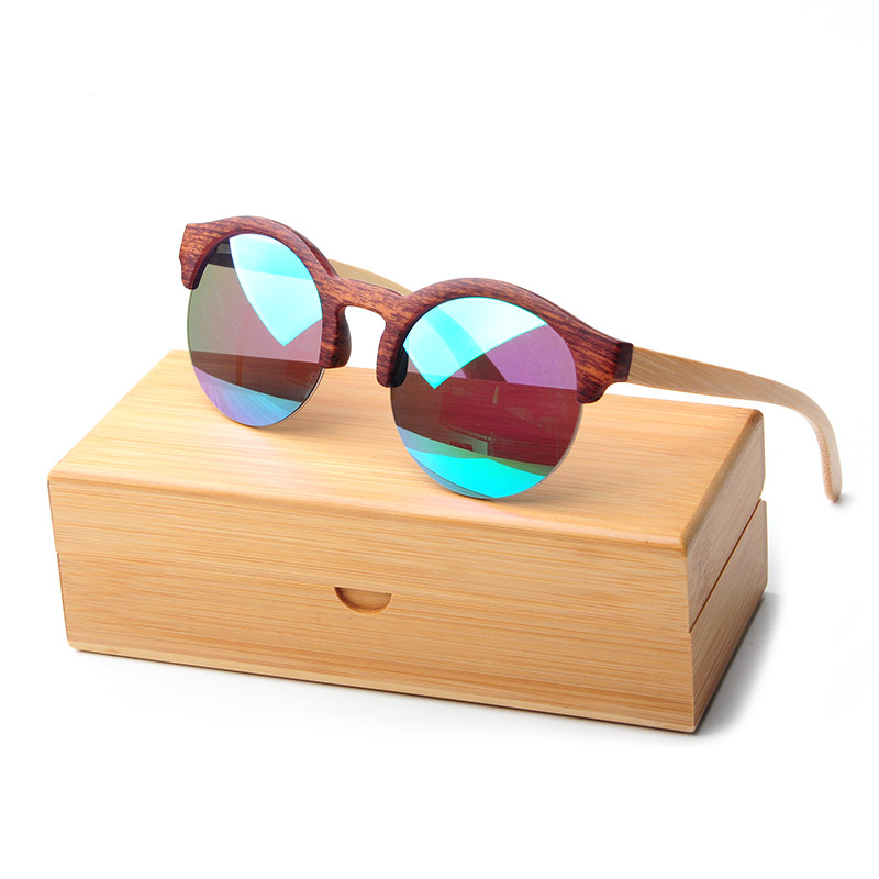Bamboo Sunglasses Women 2017 Vintage Half Frame Wood Sunglasses Men Handmade Sport Wood Sun Glasses Frame With Case L5020<br><br>Aliexpress