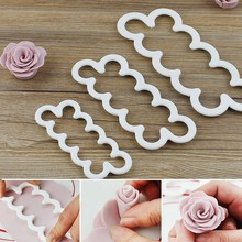 3pcs/Set Silicone 3D Rose Flower Mold Fondant Cake Chocolate Sugarcraft  Mold DIY  Cake Tool