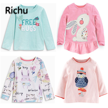 pre-school new baby 2t 3t 4t full sleeve tees inside out cartoon dinsaur baby t shirt tops kids t shirts kids T-shirts for girl
