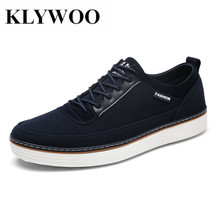 KLYWOO Big Size 39-46 Fashion Leather Shoes Men Lace Up Comfortable Brand Mens Casual Shoes Sneakers Men Loafers Breathable
