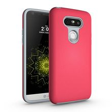 Slim Armor Phone Case Hybrid Silicone TPU PC Rugged Cover Football Lines Design Shockproof Shell For LG G5 H830 H840 H850
