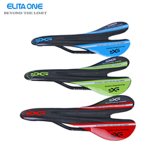 ELITAONE New bicycle glossy carbon saddle 3k full carbon fibre cycling MTB road bike seat bike parts 95g Red Green Blue