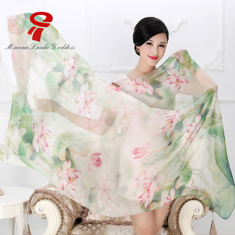 scarf 100% Silk Satin Scarf big size female Silk Scarf Women Luxury Brand lady shawl wrap hijab summer beach cover up(China (Mainland))