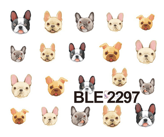 Manicure watermark stickers BLE2292-2302 cartoon dog nail nail applique Decal Sticker trade Manicure<br><br>Aliexpress