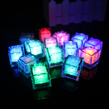 36pcs RGB Color Changing LED Ice Light White Mini Glowing Cube Underwater Wholesale Ice Cube Light  For decoration mariage Bar