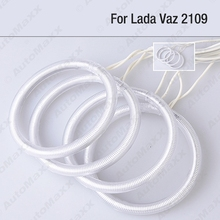 4Pcs/set Car 6-Color Optional Headlight CCFL Angel Eyes Halo Rings Kits For Lada VAZ 2109 #FD-1274