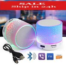 SMARCENT Mini Bluetooth Speakers LED Portable Wireless Hands Free Speaker TF USB FM Mic Blutooth Music iPhone 6 7 phone