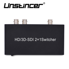 UNSTINCER SDI Switcher 2X1 HD Switch 2 SDI Signal to 1 SDI Output Converter for 3G HD SD Monitor Security Camera CCTV Video(China)