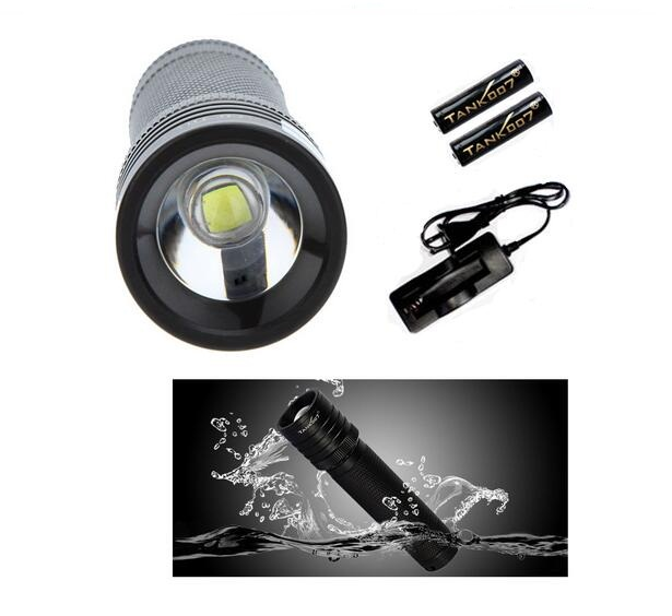 1 Set Tank007 TK737 Cree Q5 Waterproof Outdoor 5 Modes 300LM LED Flashlight Torch Light Lamp whit 18650 Battery<br>