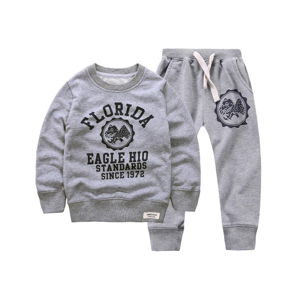 New 2017 retail children clothing set baby girls masha bear warm suit hoody jacket pants cartoon clothes kids