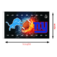 Detroit Lions VS New York Giants sports flags custom race flying flag, size 3X5FT, printed banners without flagpole
