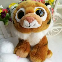 "TIGGS Brown Tiger TY BEANIE BABIES 1PC 15CM 6"" BIG EYE Plush Toys Stuffed animals KIDS TOYS GIFT CHILDREN GIFT Decor"