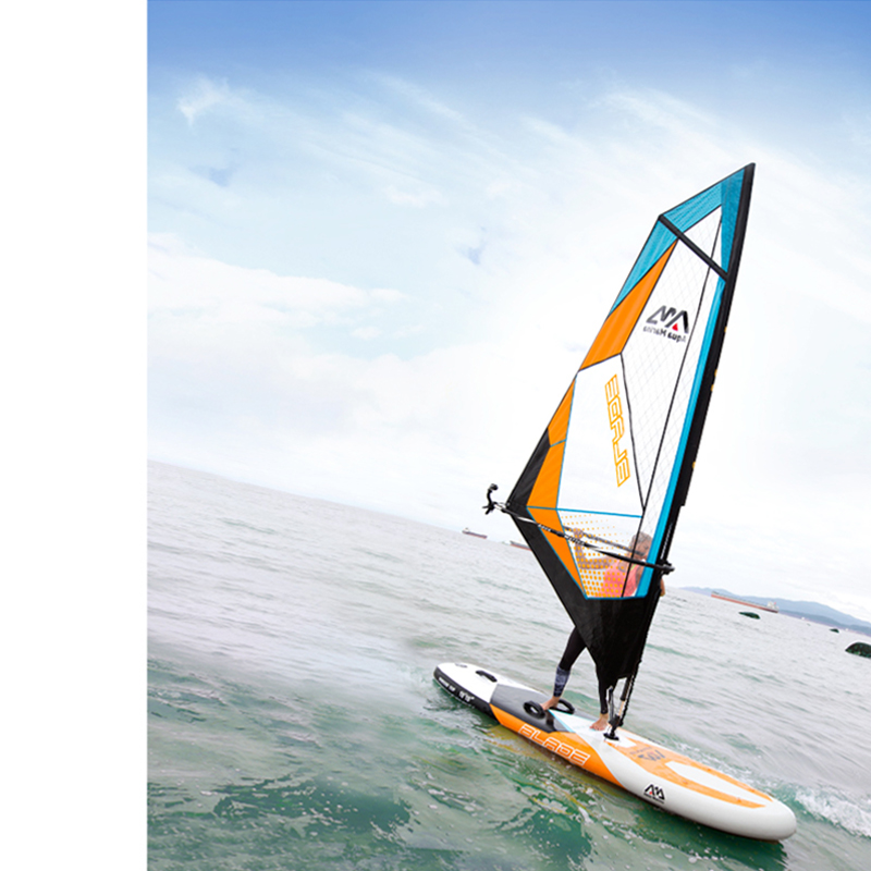 Big white sup board and sail