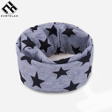 2017 Fashion Scarf for Kids Ring Scarf Girls Boys Neck Scarf Children Winter Star Scarves Bufanda(China)