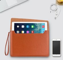 Fashion wallet solid pu leather with zipper Business sleeve pouch cover case for iPad Mini 1 and mini 2 3 4 5 with lanyard