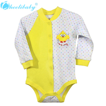 2016 New Fashion Baby Boys Girls Autumn Newborn Cute Clothes Body Set Baby Jumpsuit Outfits Long Sleeve Baby Girls Clothing Sets(China)