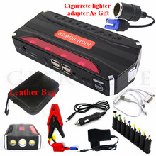 2017 Car Jump Starter Portable 12V Starting Device 4USB Power Bank Mobile 600A Car Charger For Car Battery Booster Buster LED