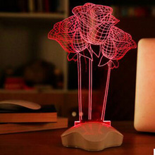 Red Rose Flower  Night Light  3D Visual LED Night Light Creative Lava Table Lamp Novelty Lighting luz de noche bathroom light