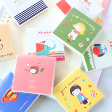 TDO 1Pcs 100Sheets Mini Cute Notebook Exercise Book Notepad with PVC cover Office School Supplies Gift For kids Free Shipping