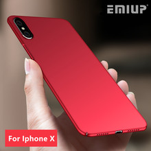 Buy EMIUP Luxury Hard PC Back Cover case iphone X Ultra Thin Plastic Shockproof Full Cover Cases iphone X case Capa Coque for $3.28 in AliExpress store