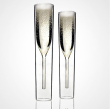 Novelty Crystal Goblet Double Layer Inside Out Beer Wine Glass Cup Cocktail Whiskey Champagne Glass for Wedding Party 2pcs/lot