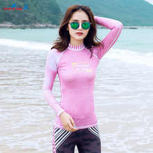 Womens Long Sleeve Rashguard Swimwear Rash Guard Athletic Tops Rash Guard Swim UPF 50+ Swim Shirt Sun UV Protection Wetsuit Skin