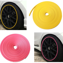 New Color Wheel Rim Protector Glue car Stickers For Motorcycle 10 Color 8 Meters Auto Accessories Car Styling