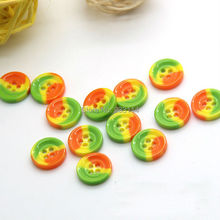 A108 Wholesale green yellow orange button shirt button four sweater buckle children diy craft materials decorative buckle sew