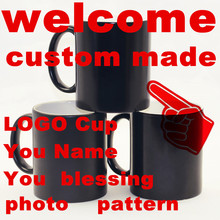 You Name blessing photo Christmas gift Custom Made Mugs Color Changing Cups Magic heat sensitive Coffee Mug Tea Ceramic LOGO Cup