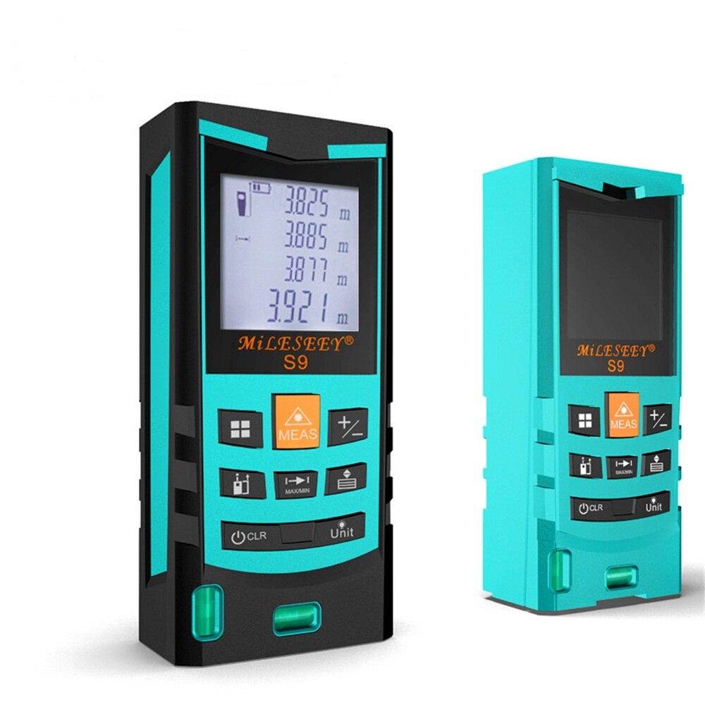 S9 Laser Distance Meter 40/60/80/100M Laser Rangefinder Laser Range Finder Digital Tape infrared ruler Measure Area/volume Tool<br>