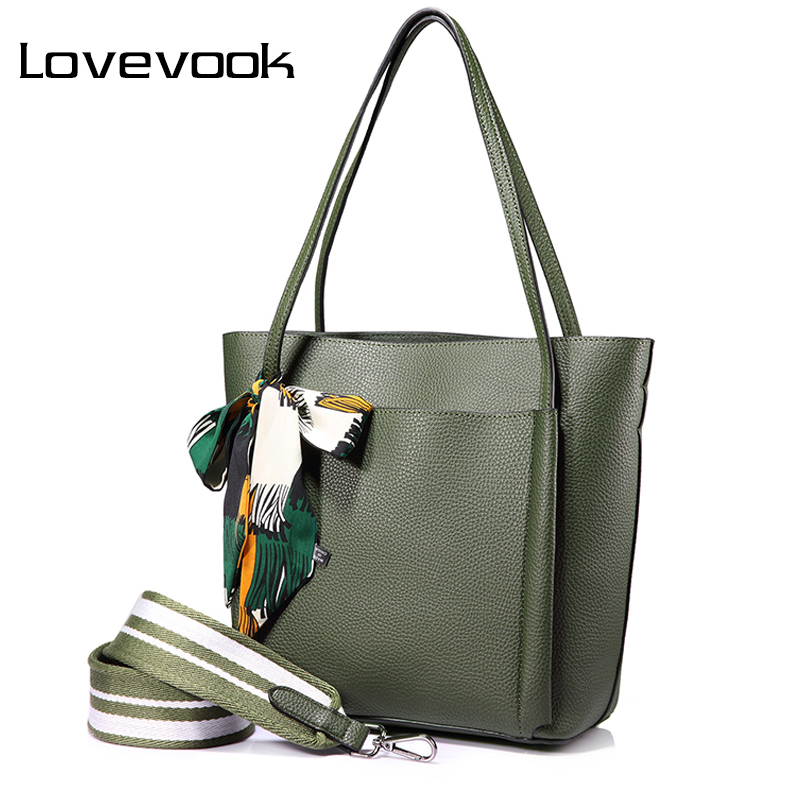 LOVEVOOK women handbag shoulder bags female messenger bag large capacity ladies casual tote bags high quality with bows Black<br>