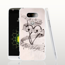 06851 MUSIC NOTES MUSIC IS LIFE cell phone protective case cover for LG G5 G4 G3 K10 K7 Spirit magna